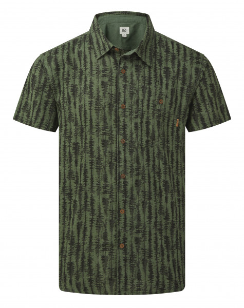 M's Hemp Short Sleeve Button Up