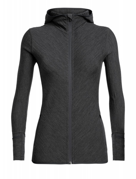 DESCENDER LONG SLEEVE ZIP HOOD DAMEN